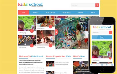 bootstrap templates for school website kids school a education flat bootstrap responsive web template