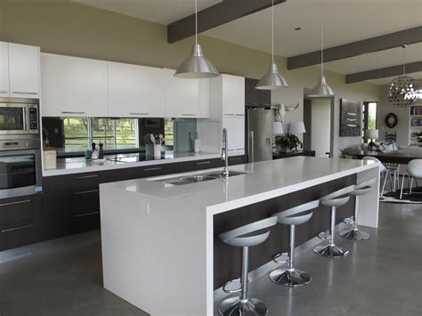 Island Bench Kitchen Breathtaking Kitchen Designs With Island Bench Also Brushed Nickel Industrial Pendant Lighting
