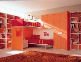 orange kids bedroom with bunk beds stylehomes net