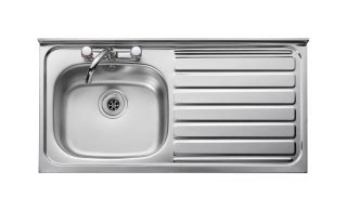 leisure kitchen sink spares leisure contract lc105r 1 0 bowl 2th stainless steel kitchen sink right hand drainer sq front