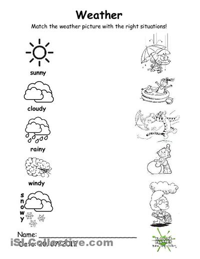 Weather Worksheets by 8 Best Images Of Weather Free Printable Kindergarten