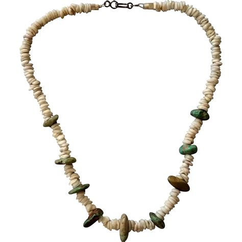 shell jewelry on hold turquoise nuggets puka shell necklace from