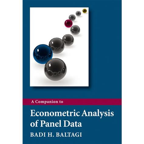Econometrics Of Panel Data free arellano panel data econometrics free