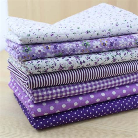 Purple Patchwork Fabric - aliexpress buy 7 pieces purple series cotton fabric