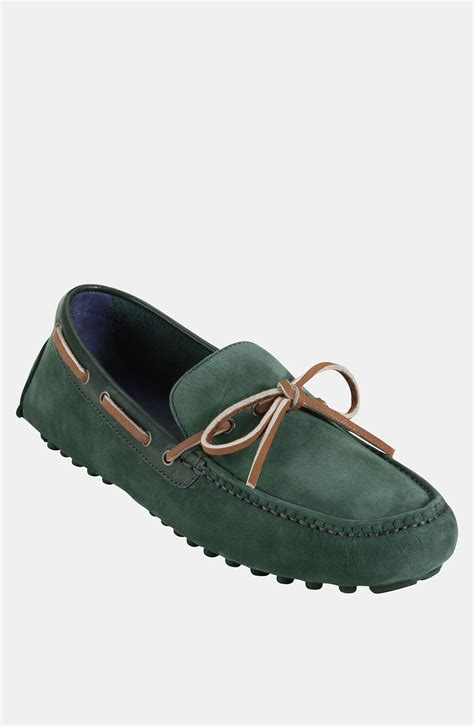 cole haan driving shoes cole haan air grant driving shoe in green for moss
