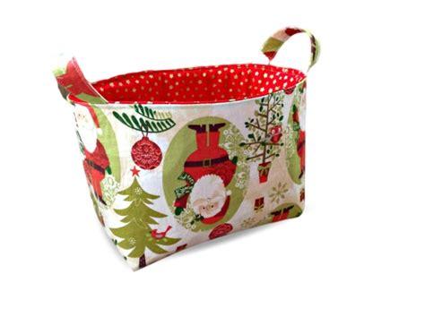 christmas tree santa fabric storage tub pumpkin pie