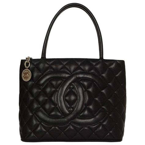 Chanel Quilted Caviar Bag chanel black quilted caviar medallion tote bag shw at 1stdibs