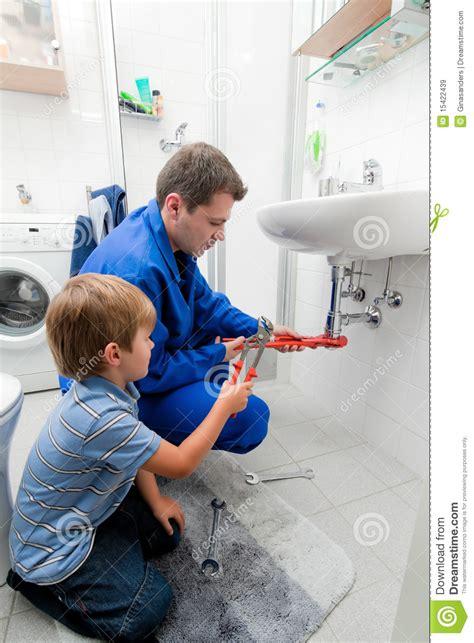 Bathroom Plumbing Service Plumbing Repair Sink Royalty Free Stock Images Image