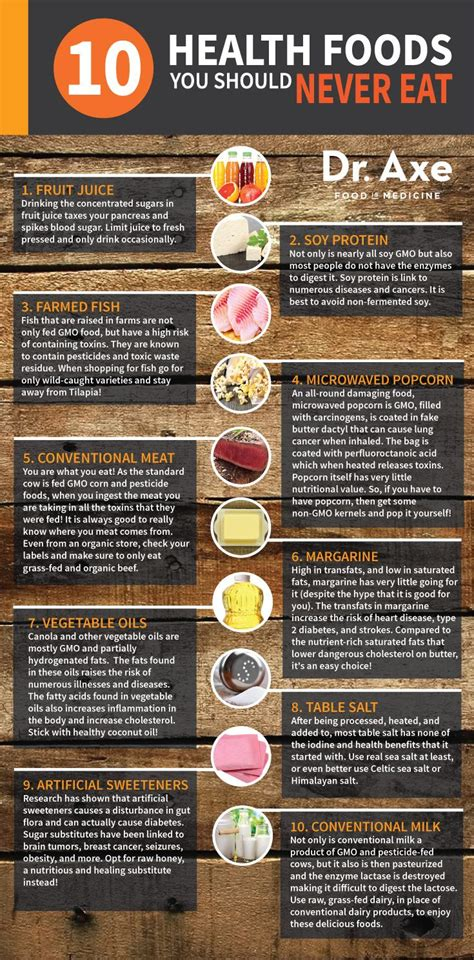21 health foods you should never eat no matter what 21 health foods you should never eat infographic food