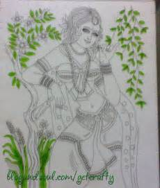 Glass Painting Krishna Outline by The Gallery For Gt Glass Painting Outline Designs Of Krishna
