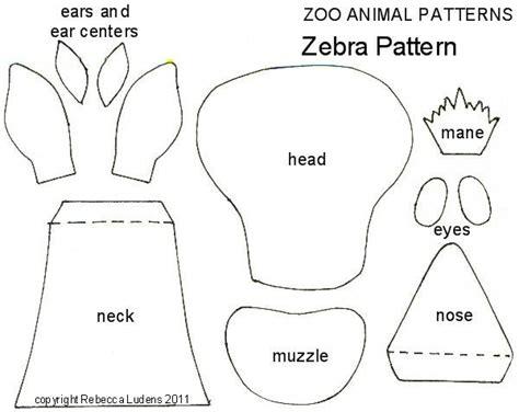 pattern for zebra stuffed animal zoo animal free paper piecing patterns zebra paper