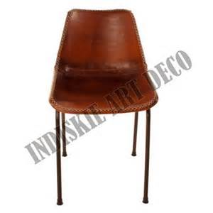 Retro Dining Room Chairs Vintage Stitched Leather Dining Chair Retro Leather
