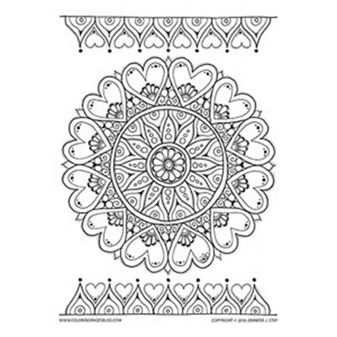 romantic mandala coloring pages valentine s day