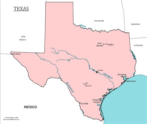 map of texas cities and rivers texas state map map of texas and information about the state