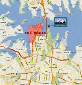 map of rock sydney the rocks birthplace of australia crazy about