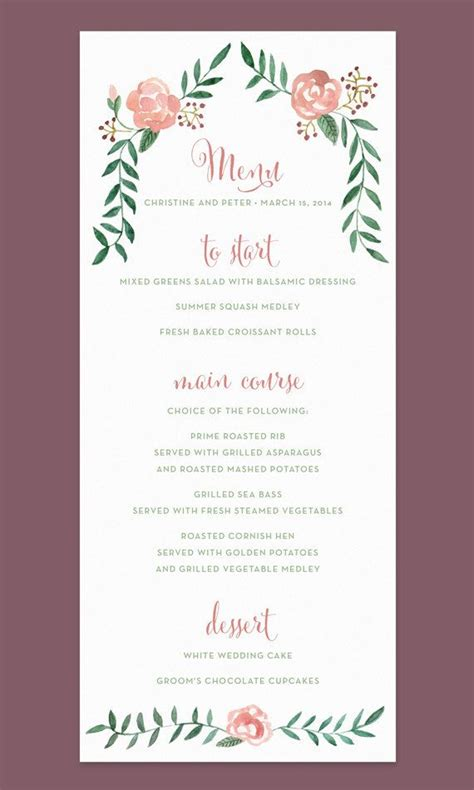 how to make wedding menu cards best 25 wedding menu cards ideas on wedding