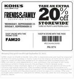 kohls 30 percent code september 2015 2017 2018 best