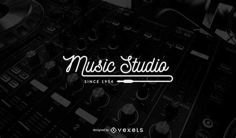 music studio logo template design vector download