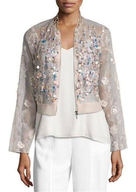 Organza Jacket elie tahari elie tahari embroidered silk organza jacket