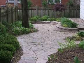 flagstone patio over concrete landscaping gardening ideas