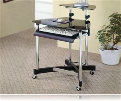 Black And Chrome Computer Desk Black And Chrome Finish Home Office Computer Desk Computer Desks Coaster 800245