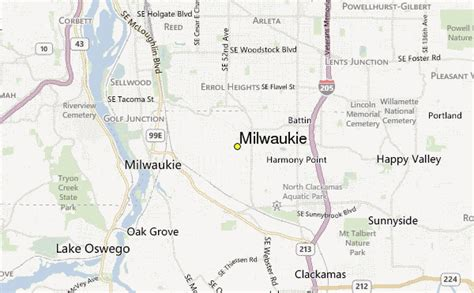 milwaukie oregon map milwaukie weather station record historical weather for