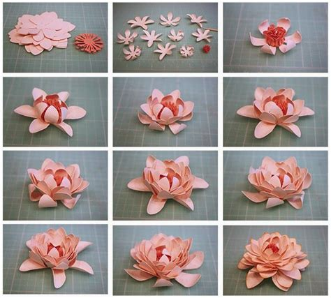 How To Make A 3d Flower Out Of Construction Paper - 3d paper flowers flower