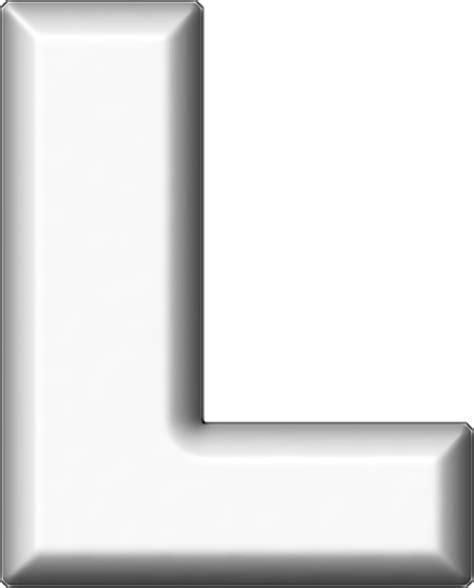 White L by Presentation Alphabets White Refrigerator Magnet L