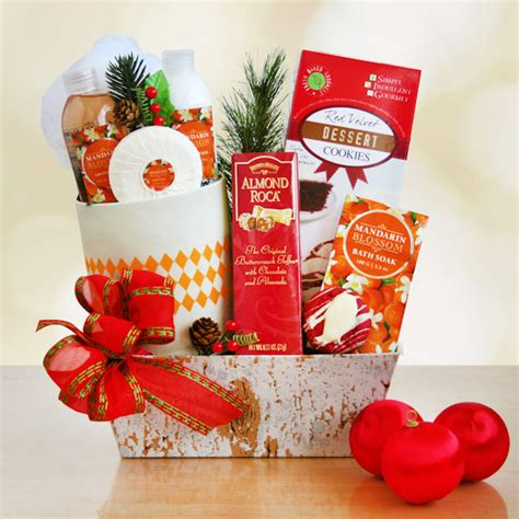 mandarin blossom holiday spa gift basket gift baskets