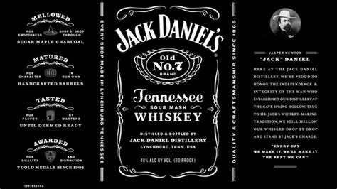 liquor label template daniel s switches up classic label huffpost