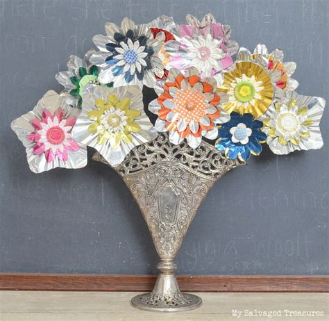 My Salvaged Treasures How To Create A Bouquet With Tree Light Reflectors