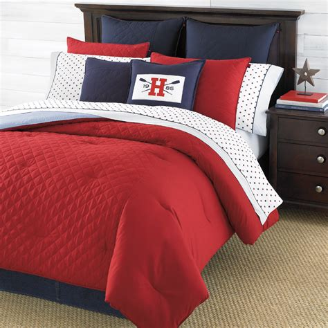 red bed comforters tommy hilfiger hilfiger prep red bedding collection from