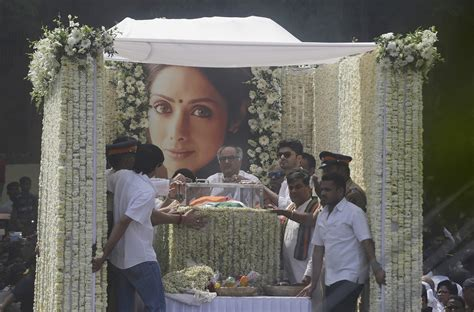 sridevi funeral let us grieve in peace sridevi s family the new indian