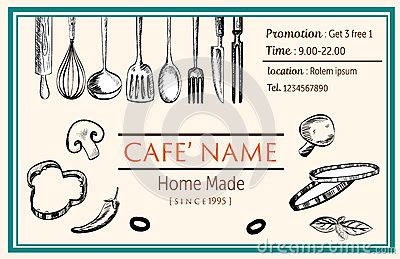 doodle name card name card brochure restaurant template doodle drawing