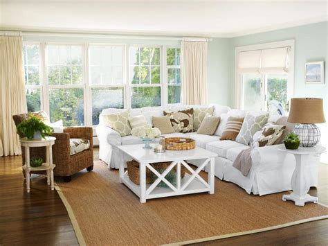 living room retreat with a coastal feel in this living 19 ideas for relaxing beach home decor hgtv