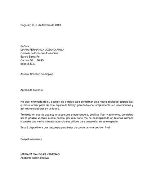 Carta De Solicitud De Empleo Para Que Sirve Cartas Y Hojas De Vida