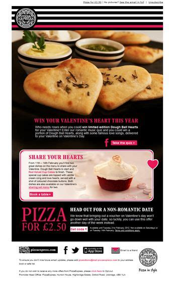 pizza express valentines day 37 best best valentines newsletters images on