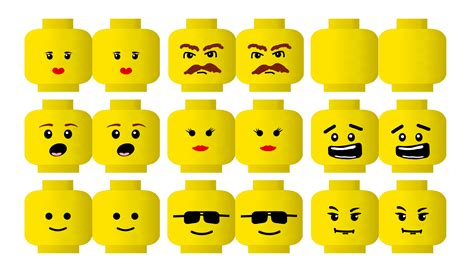 8 best images of lego faces printable lego face template
