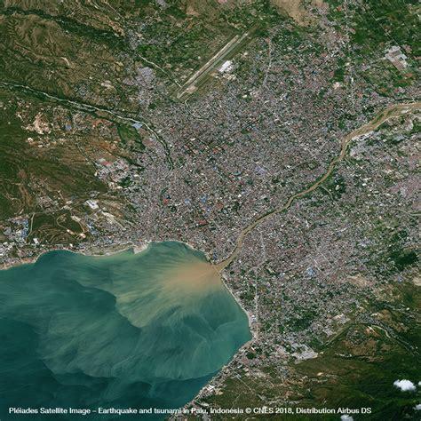 tsunami palu pl 233 iades satellite image earthquake and tsunami in palu