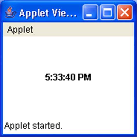java swing applet applet clock demo applet 171 swing jfc 171 java