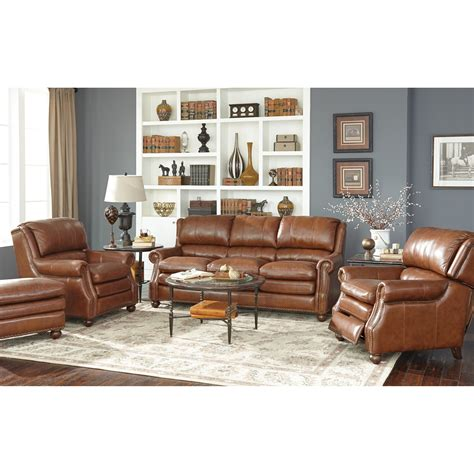 craftmaster leather sofa craftmaster l1646 traditional leather sofa with bustle