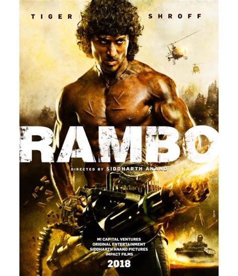 rambo film names tiger shroff reveals first poster of rambo pinkvilla