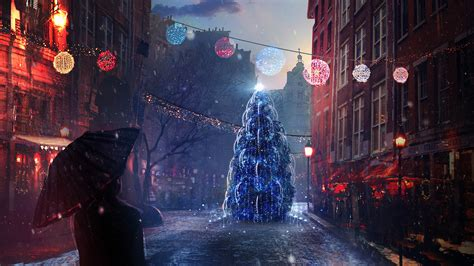 wallpaper 4k ultra hd christmas christmas eve lights wallpapers hd wallpapers id 19400