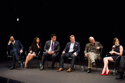 the blacklist cast and crew the cast of the blacklist listens to megan boone