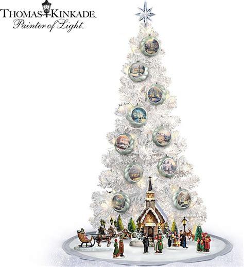 thomas kinkade lighted tabletop musical christmas tree and