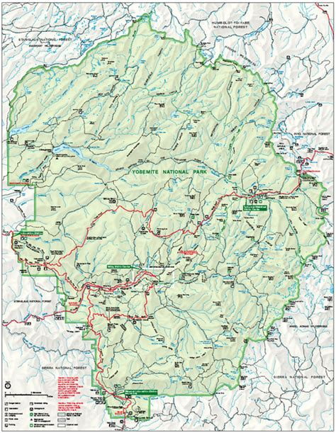 yosemite trail map yosemite national park trail images frompo 1