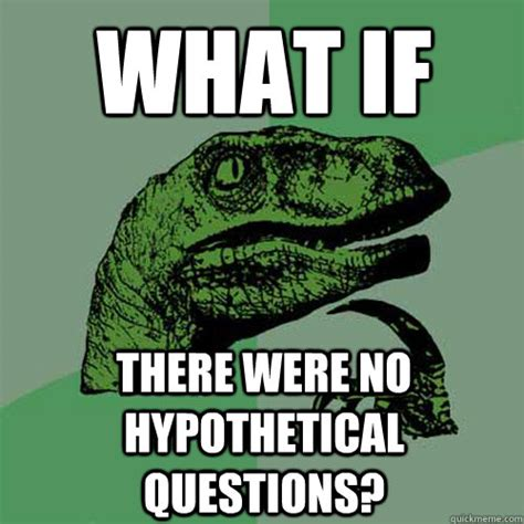 what if there were no hypothetical questions