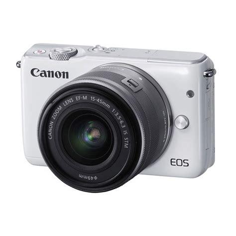 Kamera Canon Putih Jual Canon Eos M10 Ef M 15 45mm Kamera Mirrorless Putih Harga Kualitas Terjamin