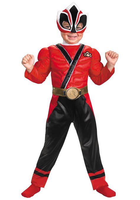 toddler power ranger samurai costume
