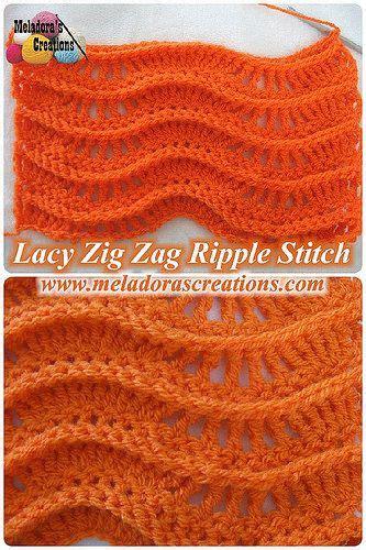 written zig zag crochet pattern lacy zig zag ripple stitch free crochet pattern video